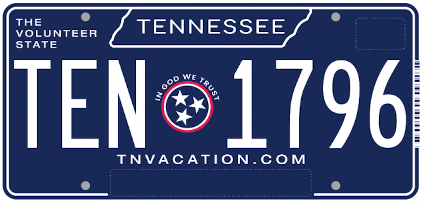 Tennessee's next standard license plate has been unveiled